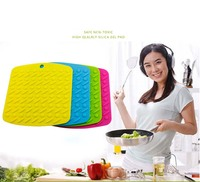 Heat Resisting Embossed Silicone Pot Holder Mat