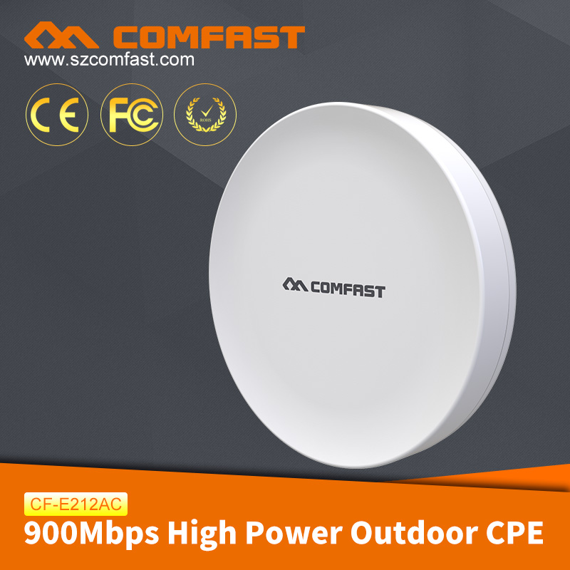 COMFAST CF-E212AC High Power Outdoor CPE OpenWRT Support 5.8GHz Long Range WiFi 3-10km CPE for Wireless Security Monitoring