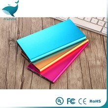WHOLESALE high quality Ultra Thin Slim portable Power Bank mobile battery charger 8000mah