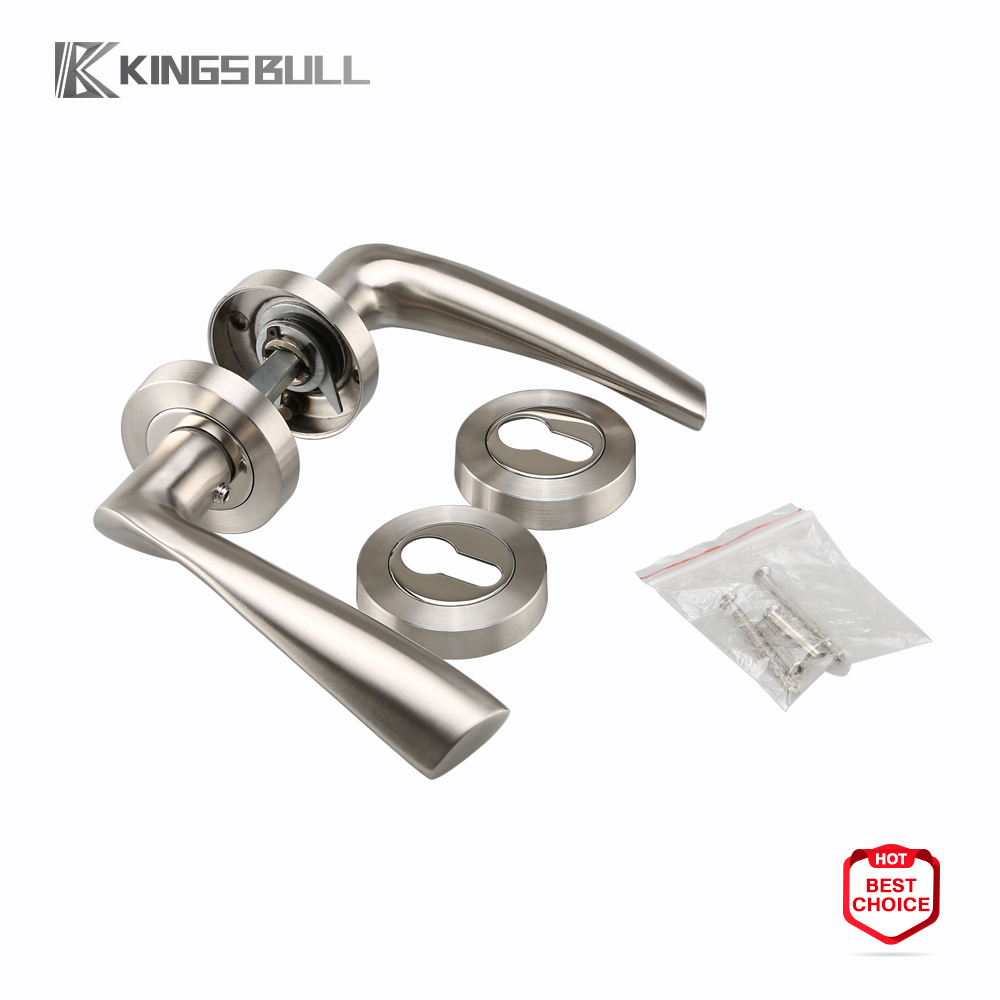 Stainless steel tube door handles and hardware rose interior door levers