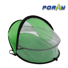 Poray lightweigh green baby sleep bed /outdoor Travel mosquito Tent /baby crib tent Portable baby beach tent UPF 35+ sun shelter