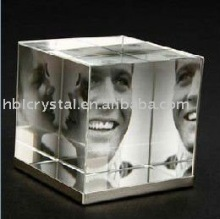 fashion design cube crystal photo frame