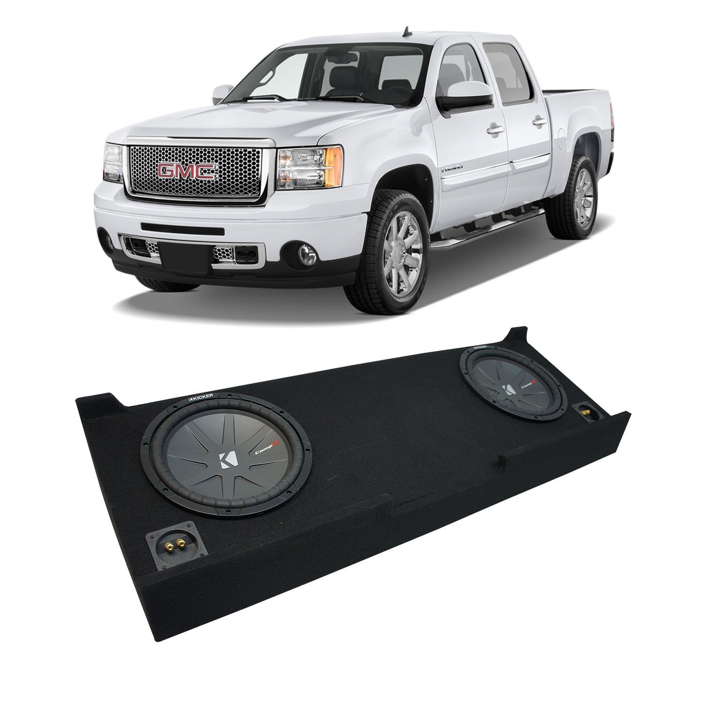 Compatible with 1999-2006 GMC Sierra Ext Cab Truck Kicker CompVT CVT12 Dual 12 Sub Box Enclosure New Final 2 Ohm