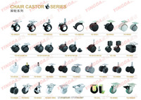 Office chair caster/furniture caster wheels from caster wheel manufacturer