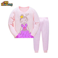 2 pcs 100% cotton hot sale pajamas set kids children's clothing pajamas girls
