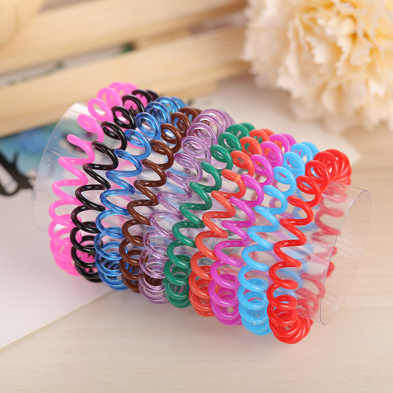 Transparent clear 3.6cm TPU telephone cord line ponytail holders hair ring   4dca5c6fe78