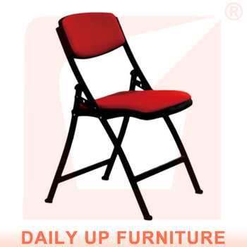 Padded Folding Chairs Office Reception Chair With Seat And Back Fabric  Cushion Economic Waiting Chair Bedroom