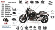 Motorcycle carbon fiber body parts for Yamaha Vmax 1700