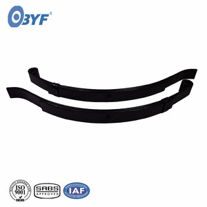 Manufacture heavy duty truck trailer parts steel flat composite leaf spring with shackle bushing eye rolling machine