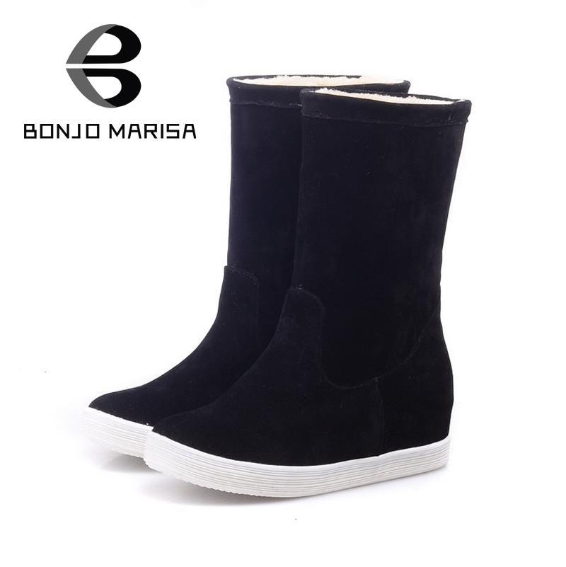 0a0ae007c0c0 Большой размер 34 - 43 2016 мода снегоступы с зима 2 стиль обувь твердые  круглый носок