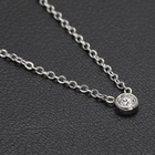 Rhodium Plated Vantage Tiny Diamond Necklace Customized Stainless Steel African Jewelry