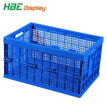 Folding stackable plastic vegetable bins