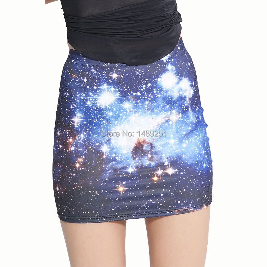 295763dbe Get Quotations · Fashion Galaxy Mini Skirt New Arrival America Apparel  Printing Ladies Skirt Wholesale Tight Skirt For Women