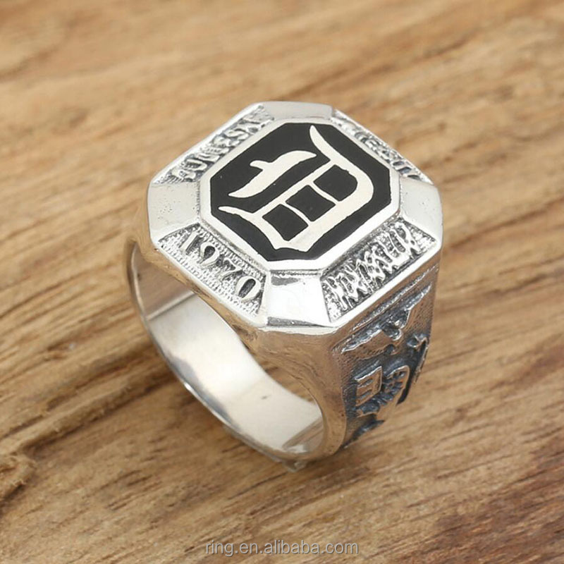 New The Vampire Diaries Ring D Word 100 Real 925 Sterling Silver For Men Wedding Fine Biker Jewelry Rings