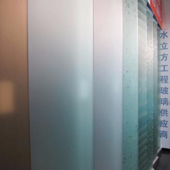 6mm Non Fingerprint Frosted Glass Shower Wall Panels For Bathroom