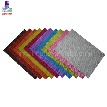 Hot Sale 100 150 180 200 230 250gsm Color Glitter Corrugated Paper Cardboard for Origami and Wrapping Paper