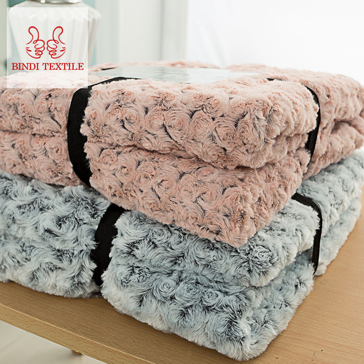 Newly Bindi good quality polar fleece knitted blanket for winter