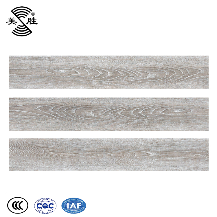 Cheap Indoor glazed ceramic bedroom waterproof parquet floor wood tiles