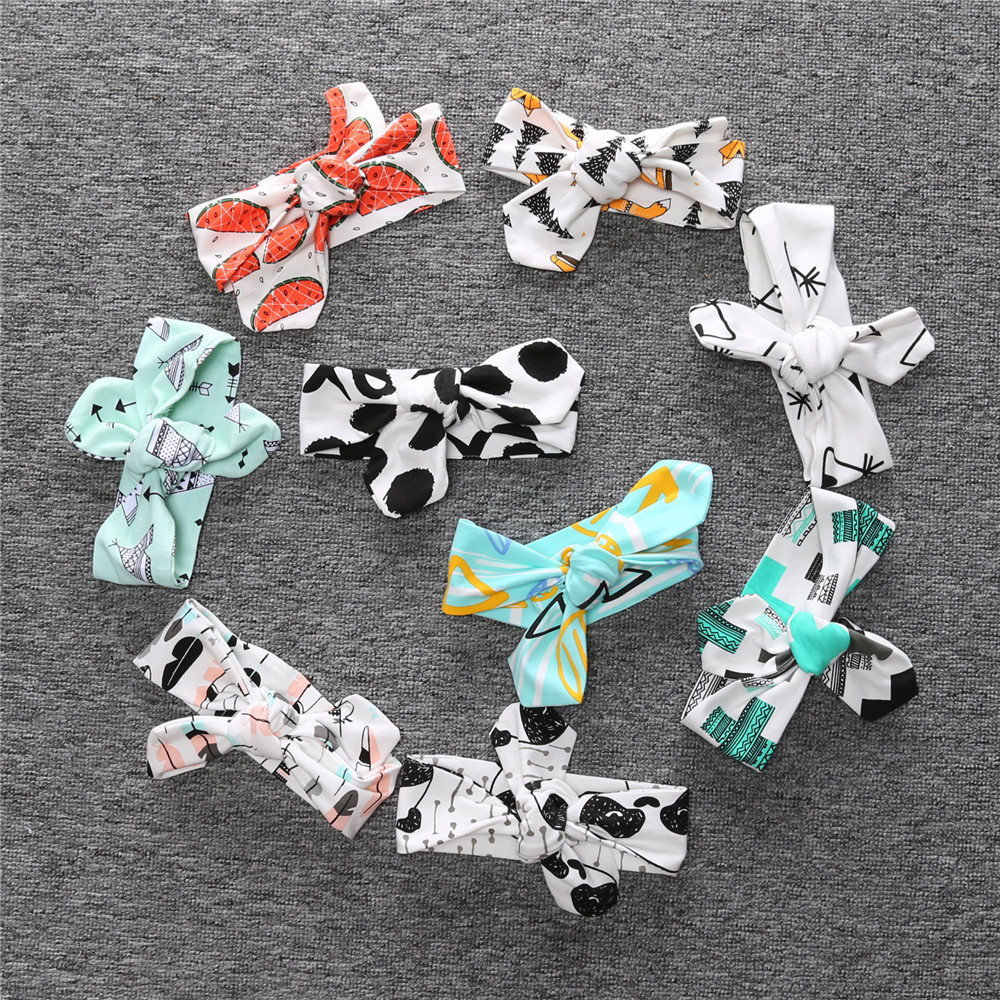 Newborn Print Bow Hairband Girls Turban Knot Headbands Children Headwear Baby <strong>Hair</strong> <strong>Accessories</strong>