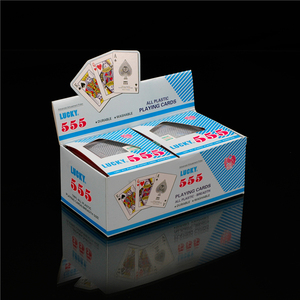 555 gold plastic playing cards pvc poker with box, playing card