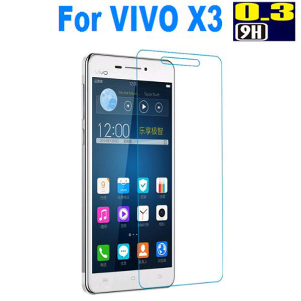 0.33mm ultra thin tempered glass film import silicone korea screen protector for vivo x3s
