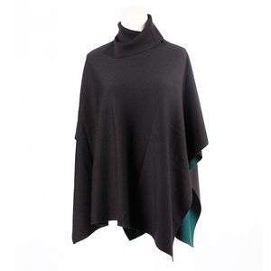 100% Wool Knitted Woman Poncho Sweater