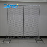 6' High x 10' Length Chain Link Portable Panels Used Temporary Fences For Construction