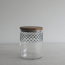 printing recycled food grade glass jars with bamboo lid for food