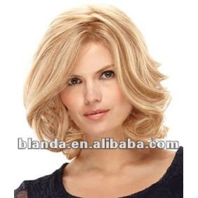 Short Curly Blonde Wig - Buy Curly Afro Wig,