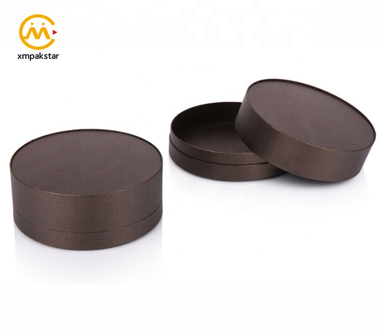 Custom logo small cardboard paper round ring jewelry box for pearl bracelet packaging