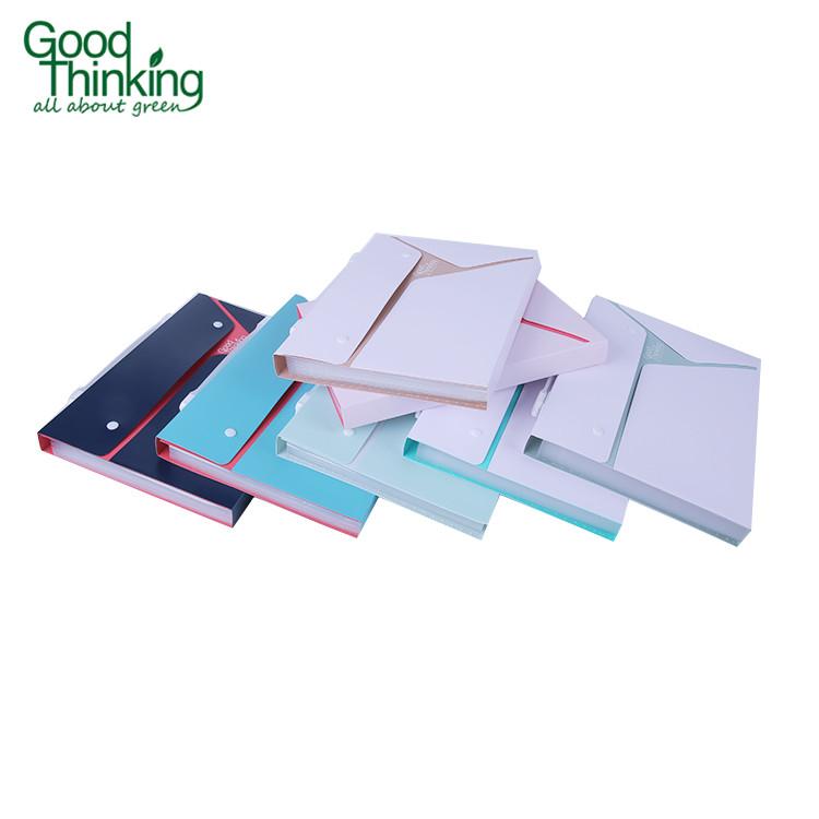 Eco-friendly personalizzato competitivo prezzo di espansione cartella di file, hardcover tasca cartella di file pp, a4 cartella conferenza