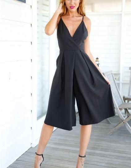 4209de38d54 Get Quotations · Women elegant jumpsuit 2015 for evening black jumpsuit  rompers V neck Backless sexy monos women long