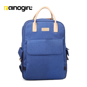 Ainogirl-Waterproof Laptop bag camera bag DSLR leisure school backpack Leather handle photo bag