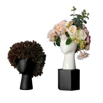 Ceramic Flower Pots Wholesale Chinese Human Head Porcelain Vase