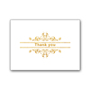 Professional Printing Luxury Gold Foil Hot Stamp Pink Colour Thank You Birthday Happy Greeting Cards with Envelope