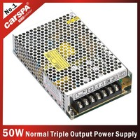 50W triple output switching power supply 5v 12v