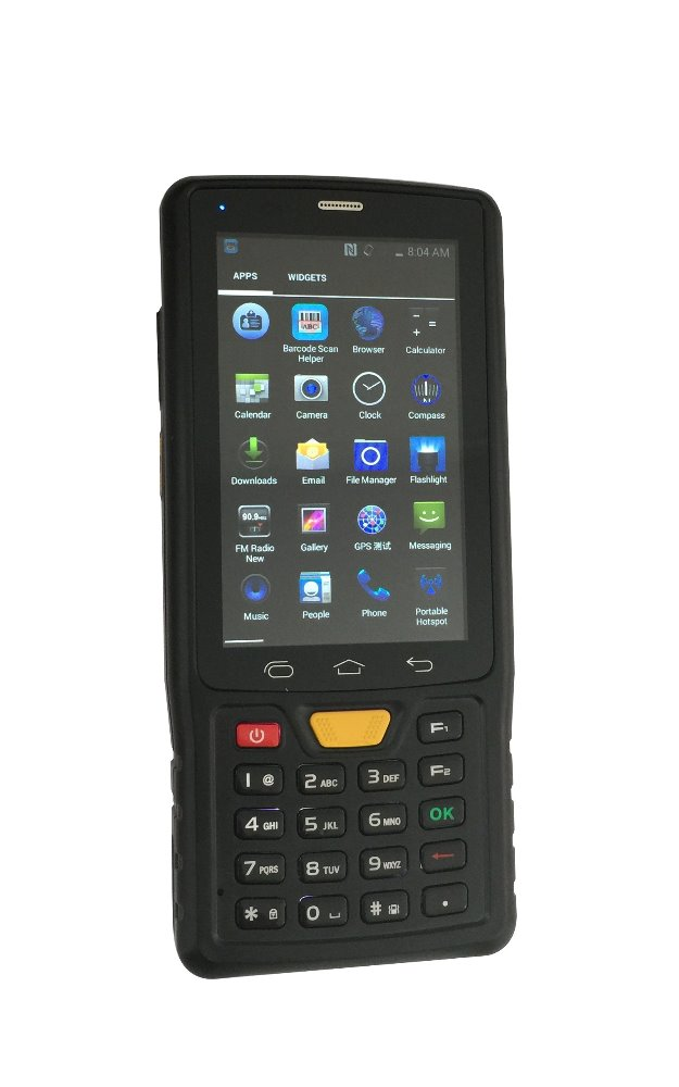 Annual sales promotion Android 4.4 4 HF RFID pda barcode scanner android Bluetooth 1D 2D Barcode