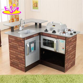2017 New Design Grand Kids Play Set Wooden Corner Kitchen Toy W10c258