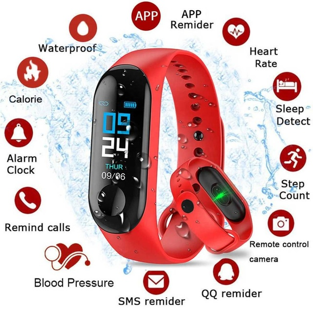 M3 Smart Band Bracelet Watch Fitness Activity Tracker Sport Wristband Heart  Rate Blood Pressure Monitoring Watch - Buy M3 Smart Watch,Smart Watch