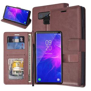 For galaxy note9 leather wallet phone case folio card slots kickstand smartphone case for samsung note 9