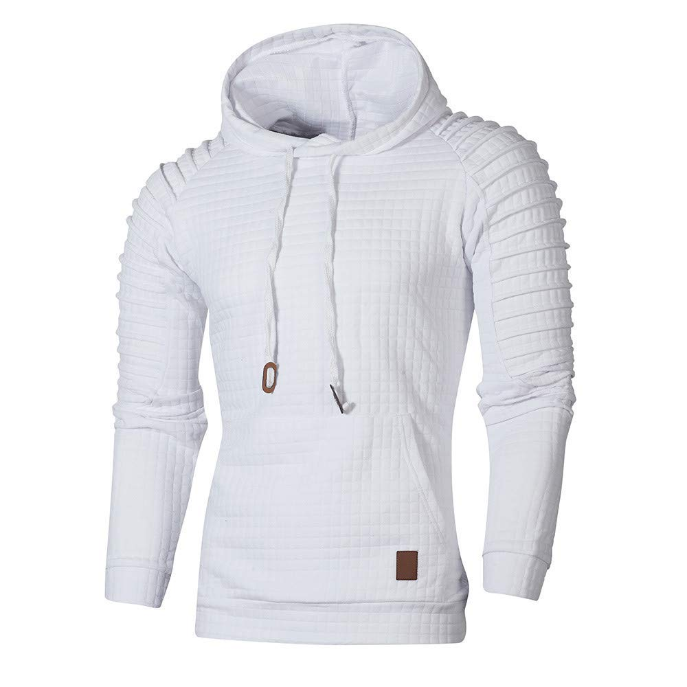 ONTBYB Mens Lightweight Long-Sleeve Pullover Hoodie Hooded Sweatshirt with Front Pocket