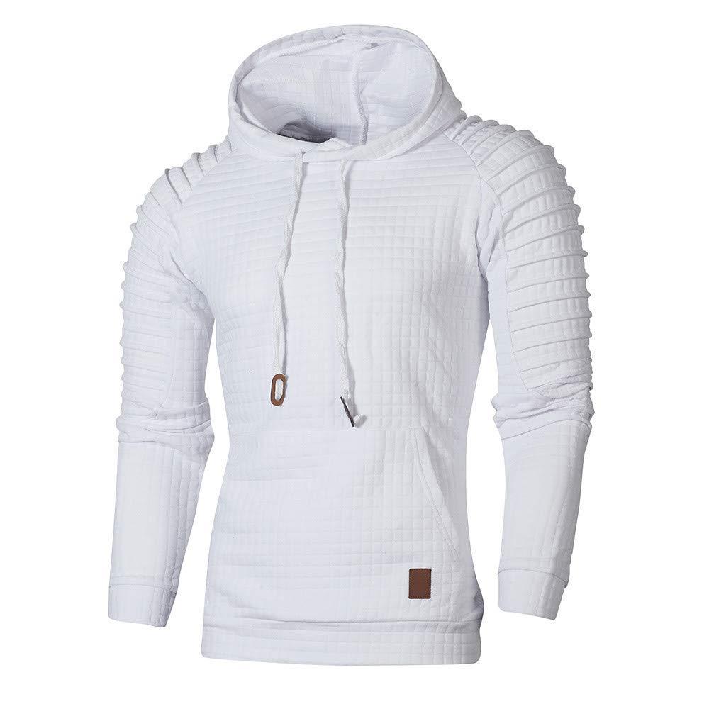 5b574362785d Mens Slim Fit Long Sleeve Hoodie Casual Pocket Hooded Sweatshirt Shirt Top