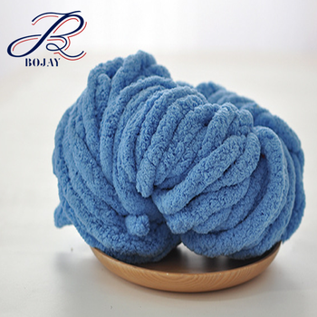 Bojay New Big Crochet Yarns Super Giant Chenille Yarn Arm Knitted Baby  Blanket Velvet Yarn - Buy Chunky Chenille Yarn,Chenille Yarn,Giant Chenille