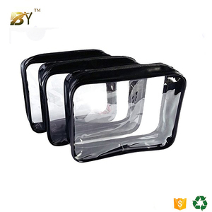 New arrival cheap transparent clear pvc cosmetic bag toilet bag make up pouch