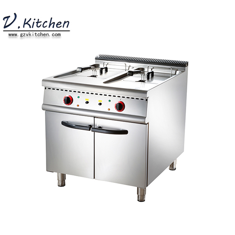 popular high quality hotels restaurants institutions <strong>commercial</strong> stainless steel 24kw electric 2 tanks <strong>deep</strong> <strong>fryer</strong>