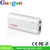 Guoguo Promotion Power Bank 5200mAh Portable Charger External Battery Pack with led torch light