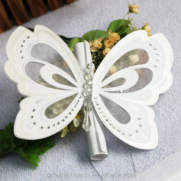 2015 royal butterfly wedding invitation card stock - buy wedding, Wedding invitations