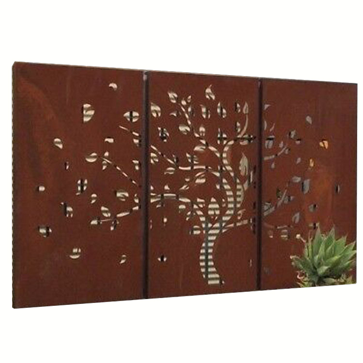 Factory OEM Decorative Garden Corten Steel Privacy <strong>Screens</strong>