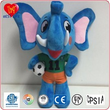 Cute Plush Colorful Elephant Soft Stuffed Wild Animal elephant With Big Ears (PTAL0816230)