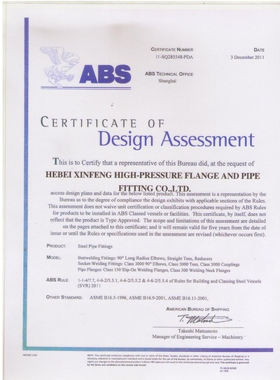 CERTIFICATE OF DESIGN ASSESSMENT